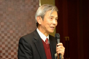 Prof. Takashi Masuda, Managing Director of The Funai Foundation for Information Technology (船井情報科学振興財団業務執行理事益田隆司氏) gives a congratulatory speech